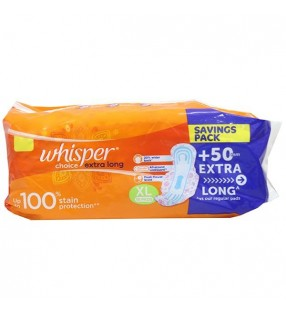 WHISPER CHOICE EXTRA LONG 18PADS