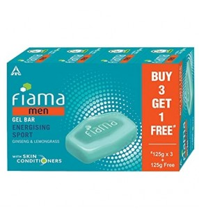 FIAMA MEN GEL BAR ENERGISING BUY 3 GET 1