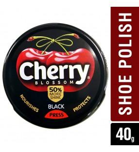 CHERRY SHOE POLISH  BLACK TIN 40g