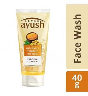 AYUSH ANTI PIMPLE TURMERIC FACE WASH 40G