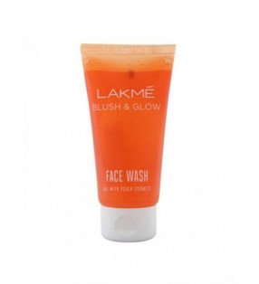 LAKME FACEWASH BLUSH & GLOW [gel with peach ]50g