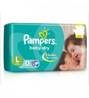 PAMPERS DRY L 5 PADS